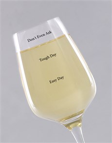 gifts: Personalised Day Levels Wine Glass!