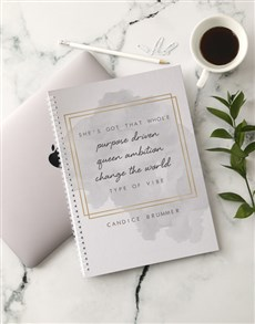 gifts: Personalised Purpose Driven Notebook!