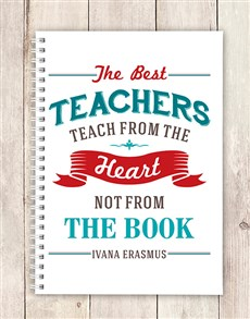 gifts: Personalised Teach From Heart Notebook!