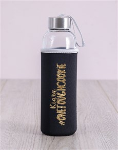 gifts: Personalised Tough Cookie Water Bottle!