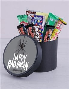 gifts: Personalised Halloween Spider Choc Hat Box!