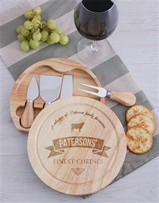 gifts: Personalised Finest Cheeseboard and Knives!