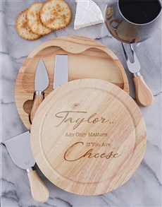 gifts: Personalised Perfectly Aged Cheeseboard and Knives!