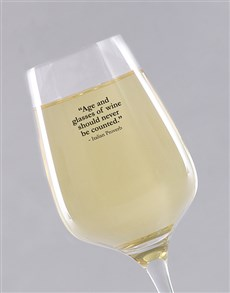 gifts: Personalised Well Aged Wine Glass!