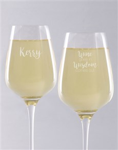 gifts: Personalised Wisdom Wine Glass!