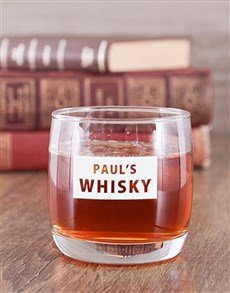 gifts: Personalised Whiskey Glass!