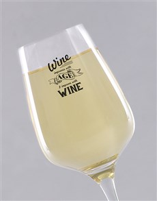 gifts: Personalised Improve With Age Wine Glass!