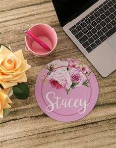 gifts: Personalised Roses Mouse Pad!