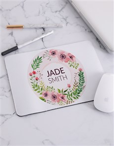 gifts: Personalised Floral Wonder Mouse Pad!