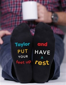 gifts: Personalised Put Your Feet Up Socks!