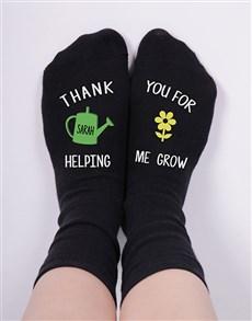 gifts: Personalised Helping Me Grow Socks!