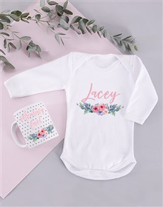gifts: Personalised Floral Mommy and Baby Gift!