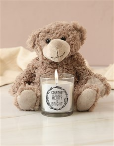 gifts: Personalised Merry And Bright Candle!