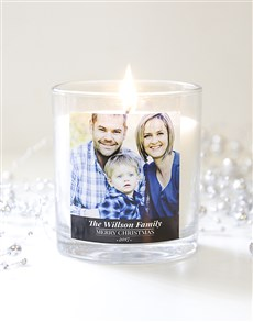gifts: Personalised Christmas Photo Candle!