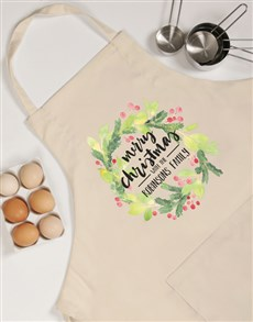 gifts: Personalised Christmas Wreath Apron!