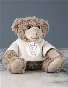 gifts: Personalised Thank You Jersey Teddy!