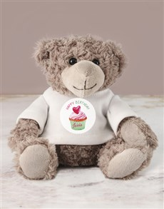gifts: Personalised Happy Birthday Jersey Teddy!