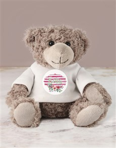 gifts:  Personalised Floral Jersey Teddy!