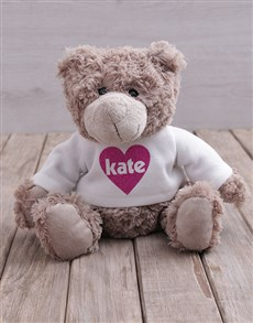 gifts: Personalised Heart Jersey Teddy!