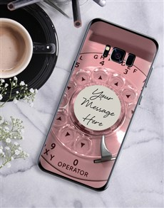 gifts: Personalised Retro Phone Samsung Cover!