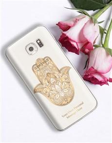 gifts: Personalised Hamsa Samsung Cover!