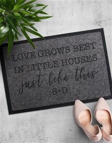 gifts: Personalised Love Grows Best Doormat!