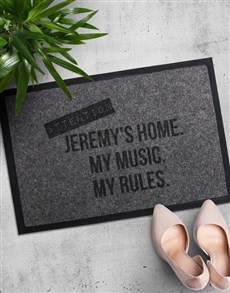 gifts: Personalised My Rules Doormat!
