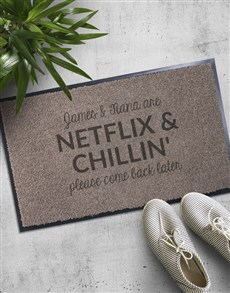 gifts: Personalised Netflix and Chilling Doormat!