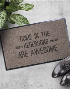 gifts: Personalised Awesome Doormat!
