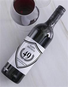 gifts: Platinum Birthday Personalised Wine!