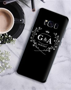 gifts: Personalised Blossom Wreath Samsung Cover!