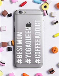 gifts: Personalised Hashtag iPhone Cover!