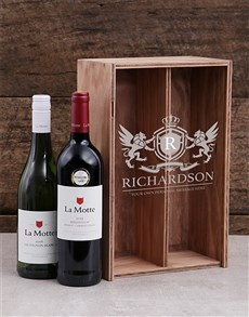 gifts: Personalised Coat of Arms Wine Crate!