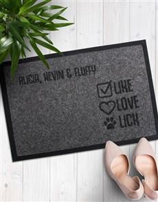 gifts: Personalised Like Love Lick Doormat!