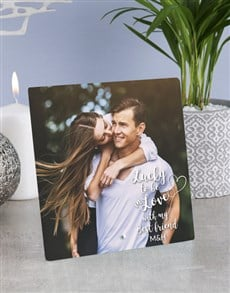 gifts: Personalised In Love Best Friend Glass Tile!