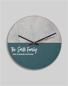 gifts: Personalised MDF Where Love Never Ends Clock!