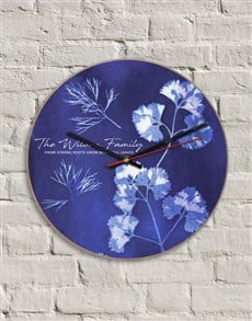 gifts: Personalised MDF Strong Roots Clock!