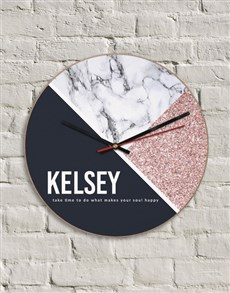 gifts: Personalised MDF Happy Soul Clock!