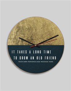 gifts: Personalised MDF Old Friend Clock!