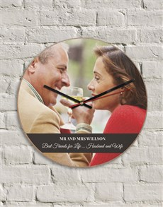 gifts: Personalised MDF Husband & Wife Clock!