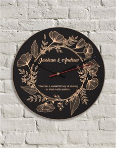 gifts: Personalised MDF What Really Matters Clock!