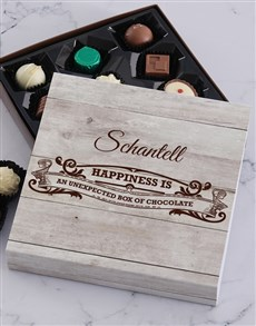 gifts: Personalised Happiness Chocolate Tray!