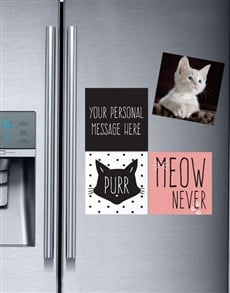 gifts: Personalised Meow Magnets!