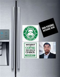 gifts: Personalised Coffee Lover Magnets!