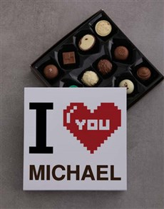 gifts: Personalised Chocolate Love Tray!