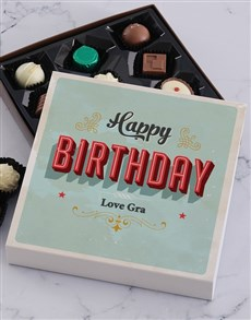 gifts: Personalised Happy Birthday Chocolate Tray!