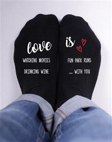 gifts: Personalised Love Is Socks!