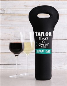gifts: Personalised Return To Wine Carrier!