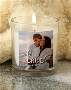 gifts: Personalised Photo Candle!