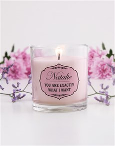 gifts: Personalised Vintage Scroll Candle!